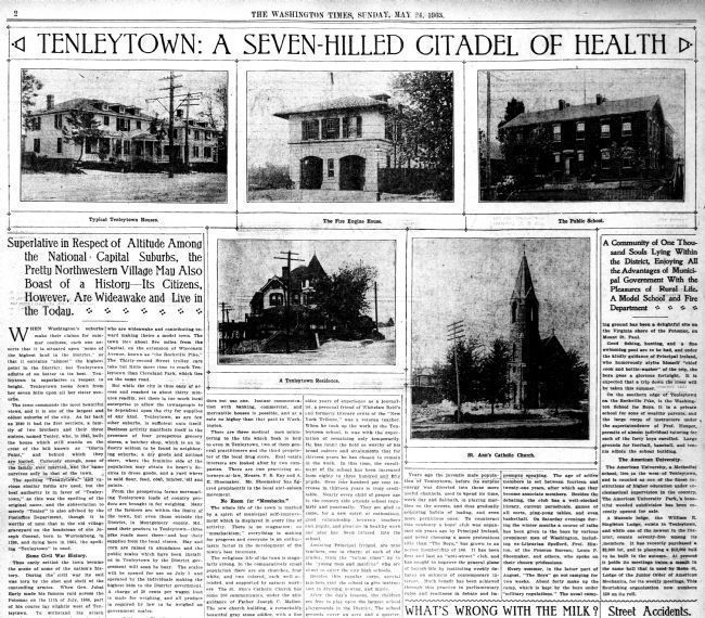 Tenleytown: A Seven Hilled Citadel of Health image. Click for full size.