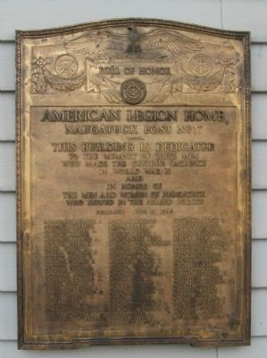 American Legion Post No 17 World War II Memorial image. Click for full size.