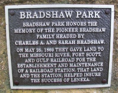 Bradshaw Park Marker image. Click for full size.