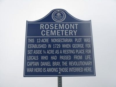Rosemont Cemetery Marker image. Click for full size.