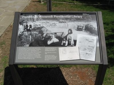 Franklin D. Roosevelt Presidential Library Marker image. Click for full size.