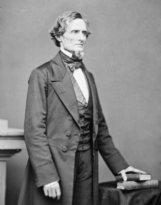 Jefferson Davis, President of the Confederate States of America image. Click for full size.