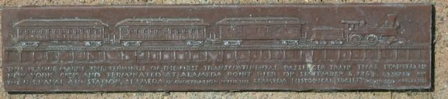The 1st Transcontinental Railroad Marker, Main Plaque image. Click for full size.