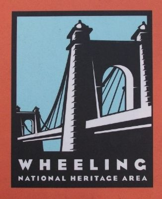 Wheeling National Heritage Area Logo on Marker image. Click for full size.