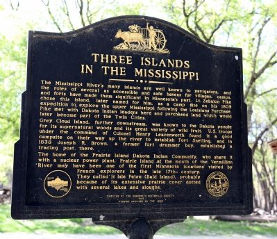 Three Islands in the Mississippi Marker image. Click for full size.