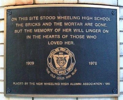 Site of Wheeling High School Marker image. Click for full size.