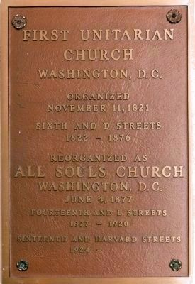 First Unitarian Church<br>Washington, D.C. image. Click for full size.