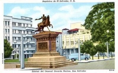 <i>Estatua del General Gerardo Barrios, San Salvador </i> image. Click for full size.