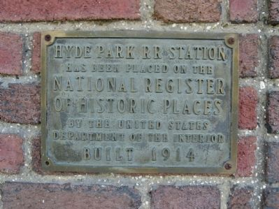 Hyde Park RR Station Marker image. Click for full size.