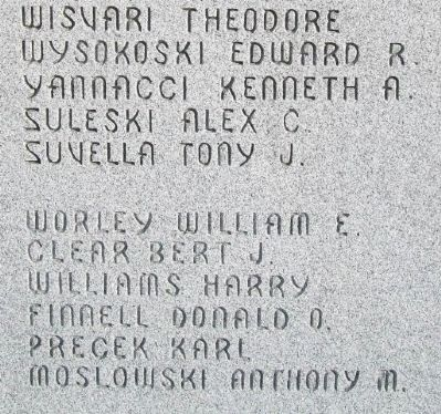 World War II Memorial Honored Dead image. Click for full size.