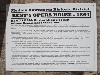 Bent's Opera House - 1864 Marker image. Click for full size.