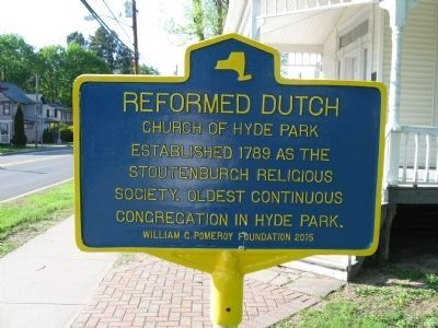 Reformed Dutch Church of Hyde Park Marker image. Click for full size.
