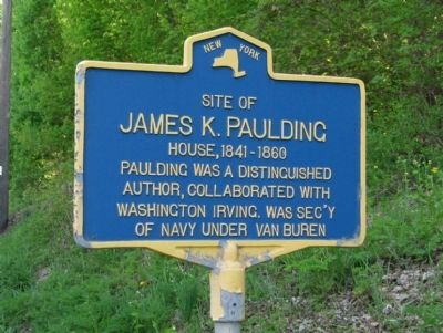 Site of James K. Paulding House Marker image. Click for full size.
