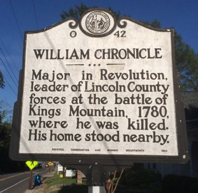 William Chronicle Marker image. Click for full size.