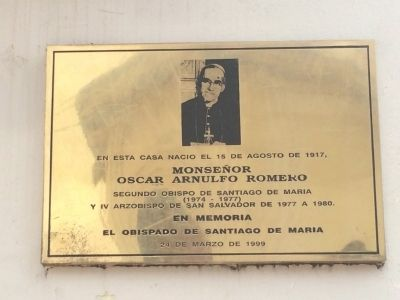 Birthplace of Oscar Romero Marker image. Click for full size.