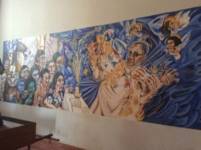Mural inside Ciudad Barrios Catholic Church image. Click for full size.
