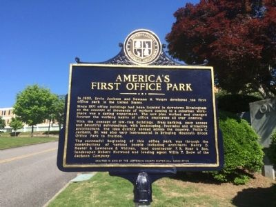 America's First Office Park Marker image. Click for full size.