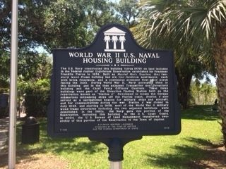 World War II U.S. Naval Housing Building Marker image. Click for full size.