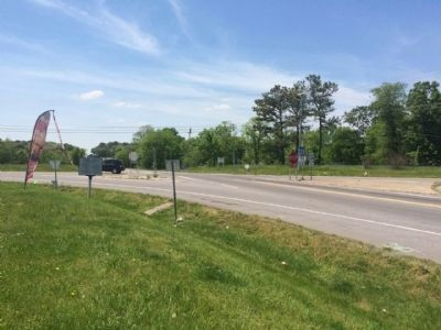 View of marker & intersection of U.S. 31W & KY-52. image. Click for full size.