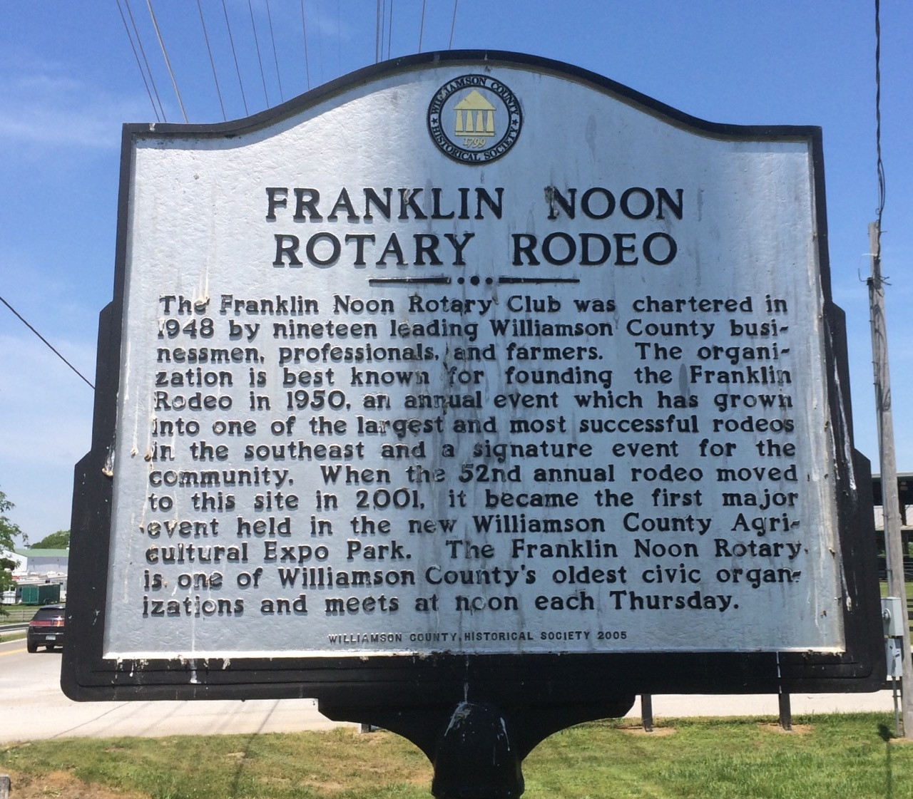 Franklin Noon Rotary Rodeo Marker