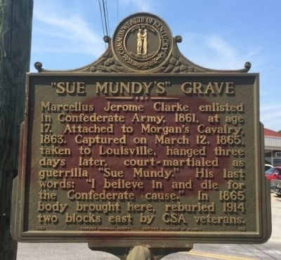 """Sue Mundy's"" Grave Marker image. Click for full size."