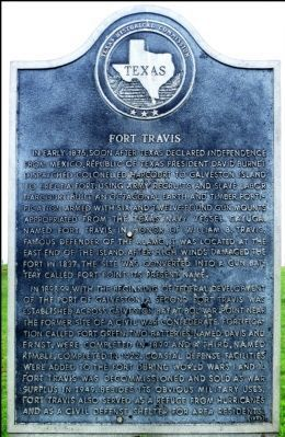 Fort Travis Marker image. Click for full size.