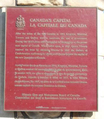 Canada's Capital Marker image. Click for full size.