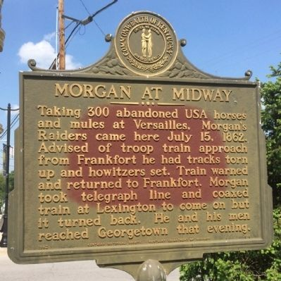 Morgan at Midway Marker image. Click for full size.