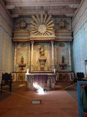 Mission San Miguel Arcangel Church Altar image. Click for full size.