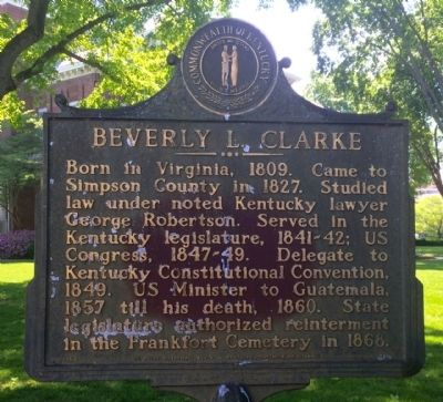 Beverly L. Clarke Marker image. Click for full size.