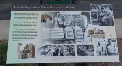 Local Railway Led the Way to America's Salad Bowl. Marker image. Click for full size.