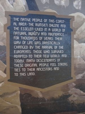 The Native People of this Coastal Area Marker image. Click for full size.