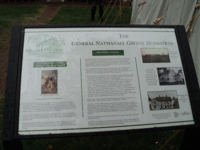 The General Nathanael Greene Homestead Marker image. Click for full size.