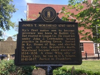 James T. Morehead, (1797-1854) Marker image. Click for full size.
