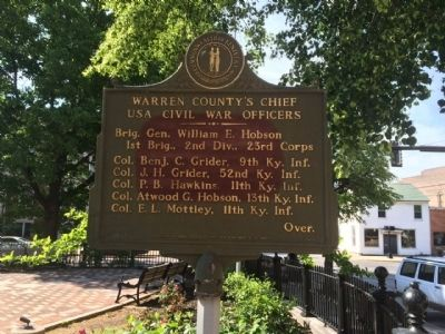 Warren County's Chief USA Civil War Officers Marker image. Click for full size.
