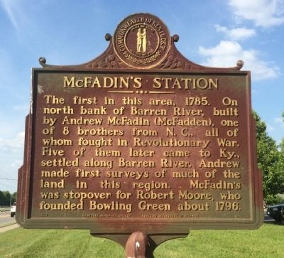 McFadin's Station Marker image. Click for full size.