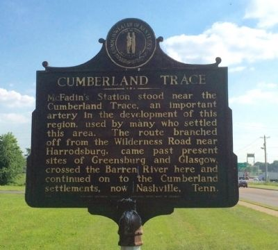 Cumberland Trace Marker image. Click for full size.