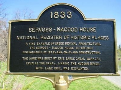 1833 Servoss-Hagood House Marker image. Click for full size.