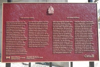 The Rideau Canal Marker image. Click for full size.