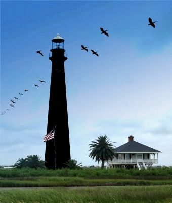 Lighthouse Across the Highway From Markers image. Click for full size.