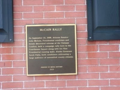 McCain Rally Marker image. Click for full size.