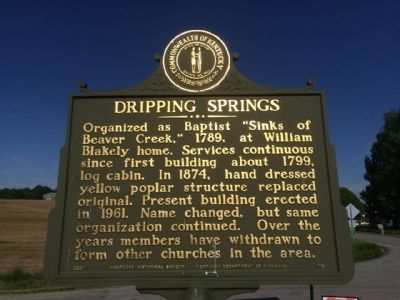 Dripping Springs Marker image. Click for full size.