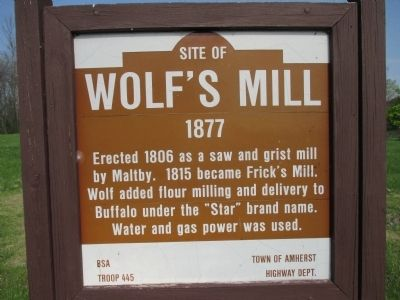 Site of Wolf's Mill Marker image. Click for full size.