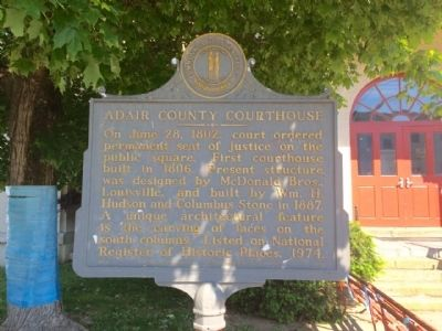 Adair County Courthouse Marker image. Click for full size.
