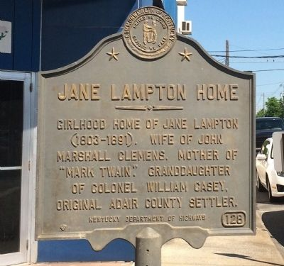 Jane Lampton Home Marker image. Click for full size.