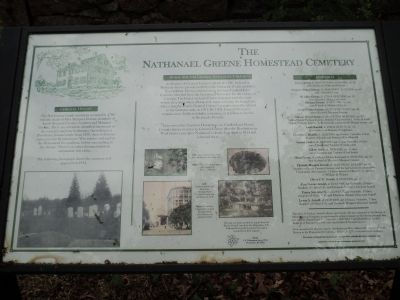 The Nathanael Greene Homestead Cemetery Marker image. Click for full size.