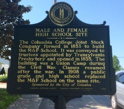 Male and Female School Site Marker image. Click for full size.