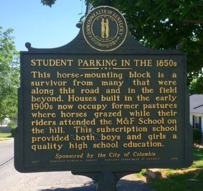 Student Parking in the 1850s Marker image. Click for full size.