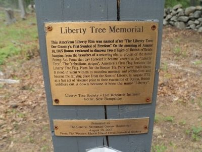 Liberty Tree Memorial Marker image. Click for full size.