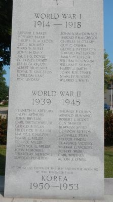 Prescott War Memorial Marker image. Click for full size.
